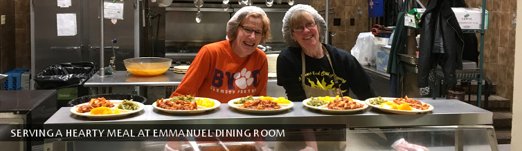 Serving a hearty meal at Emmanuel Dining Room