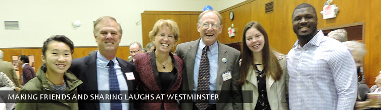 Making friends and sharing laughs at Westminster