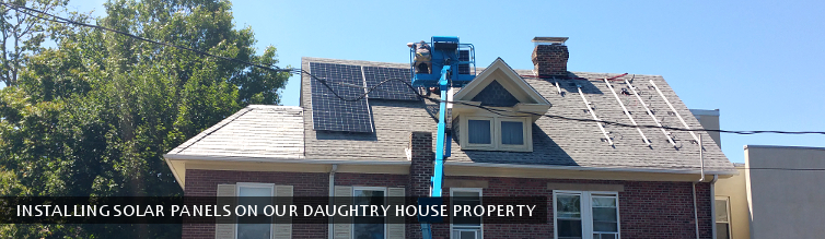 Installing Solar Panels on Our Daughtry House Property