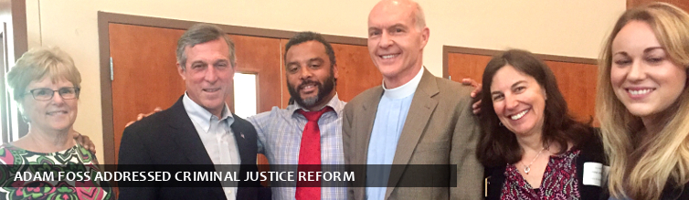 Adam Foss addressed Criminal Justice Reform