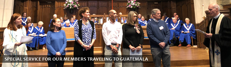 Special service for our members traveling to Guatemala