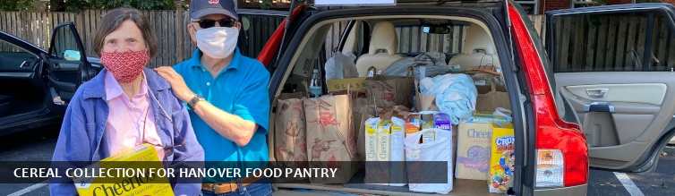 Cereal Collection for Hanover Food Pantry