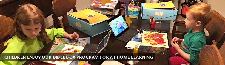 Children Enjoy Our Bible Box Program for At-Home Learning
