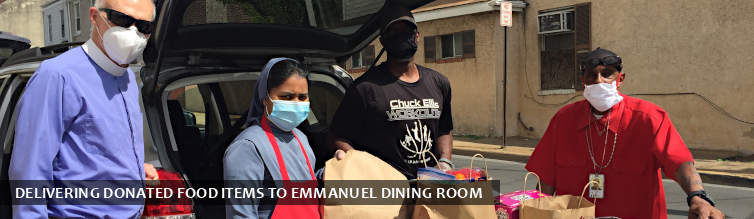 Delivering Donated Food Items to Emmanuel Dining Room